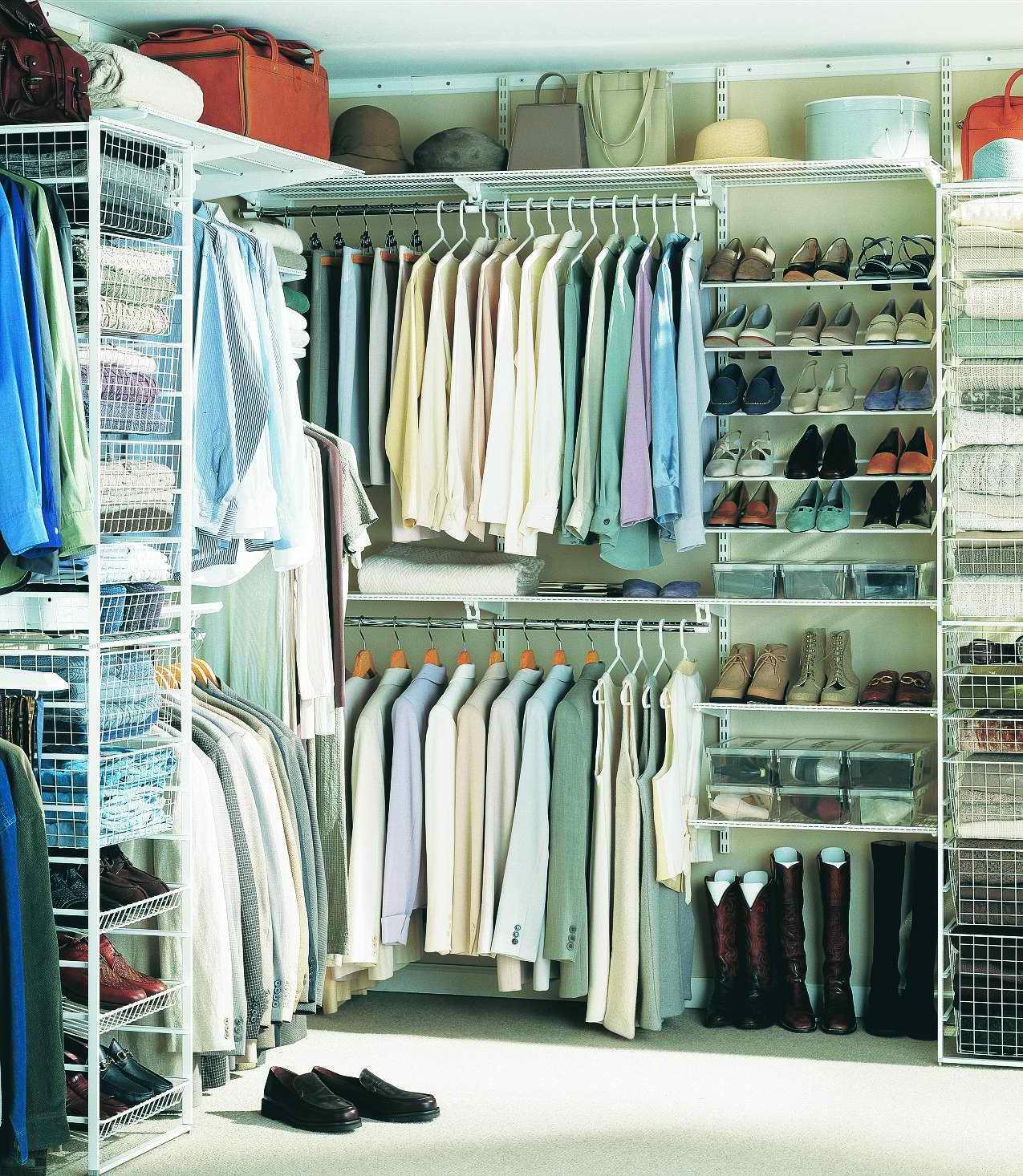 Идеи оформления гардеробной от ИКЕА. Простые системы