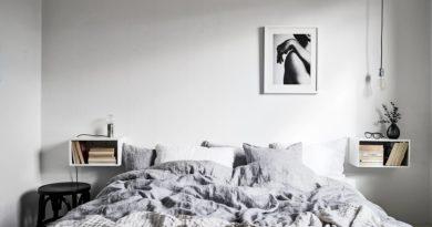 Подвесные прикроватные тумбы для спальни от Икеа