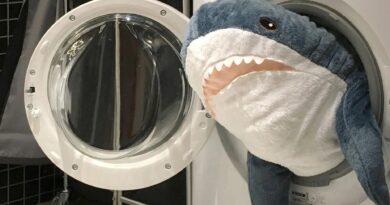 Как постирать акулу из IKEA