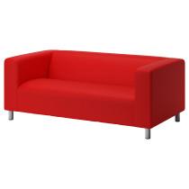 Диван 2-местный КЛИППАН красно-оранжевый артикуль № 190.106.07 в наличии. Онлайн сайт IKEA Республика Беларусь. Недорогая доставка и установка.