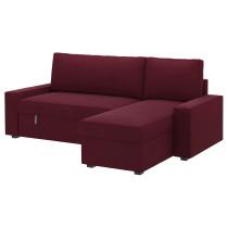 Диван-кровать с козеткой ВИЛАСУНД розово-сиреневый артикуль № 399.071.95 в наличии. Онлайн сайт IKEA РБ. Быстрая доставка и соборка.