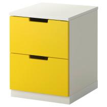 Комод с 2 ящиками НОРДЛИ желтый артикуль № 190.272.31 в наличии. Онлайн магазин IKEA Республика Беларусь. Быстрая доставка и установка.