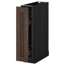 Наполный шкаф/выдвижной внутри элем МЕТОД коричневый артикуль № 491.200.15 в наличии. Интернет каталог IKEA РБ. Быстрая доставка и монтаж.