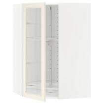 Угловой навесной шкаф с вращающающейся секцией, стеклянными дверцами МЕТОД белый артикуль № 590.541.28 в наличии. Онлайн магазин ИКЕА РБ. Недорогая доставка и монтаж.