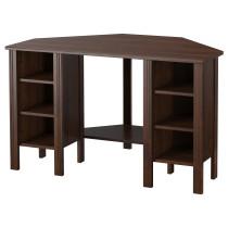 Угловой письменный стол БРУСАЛИ коричневый артикуль № 503.049.90 в наличии. Интернет каталог IKEA Беларусь. Недорогая доставка и соборка.