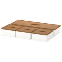 Ящик с крышкой, 4 штуки КВИССЛЕ белый артикуль № 401.980.23 в наличии. Онлайн каталог IKEA Республика Беларусь. Недорогая доставка и монтаж.