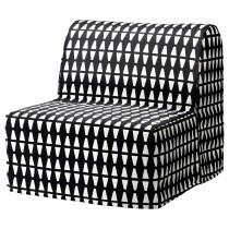 Кресло-кровать ЛИКСЕЛЕ ХОВЕТ черный/белый артикуль № 891.341.43 в наличии. Онлайн магазин IKEA Республика Беларусь. Быстрая доставка и соборка.