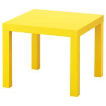 Придиванный столик ЛАКК желтый артикуль № 103.242.78 в наличии. Онлайн магазин IKEA Республика Беларусь. Быстрая доставка и установка.