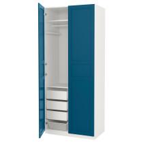 Гардероб ПАКС синий артикуль № 991.810.49 в наличии. Интернет магазин IKEA Республика Беларусь. Недорогая доставка и монтаж.