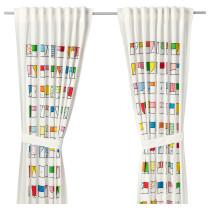 Гардины с прихватом, 1 пара ХЕММАХОС разноцветный артикуль № 703.662.46 в наличии. Интернет каталог IKEA Беларусь. Недорогая доставка и монтаж.