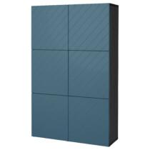 Комбинация для хранения с дверцами БЕСТО темно-синий артикуль № 992.058.75 в наличии. Онлайн каталог IKEA РБ. Быстрая доставка и соборка.