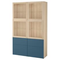 Комбинация для хранения со стеклянными дверцами БЕСТО темно-синий артикуль № 792.076.82 в наличии. Online сайт IKEA Республика Беларусь. Недорогая доставка и соборка.