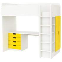 Кровать-чердак, 4 ящика, 2 дверцы СТУВА желтый артикуль № 092.271.98 в наличии. Онлайн магазин IKEA Республика Беларусь. Быстрая доставка и монтаж.