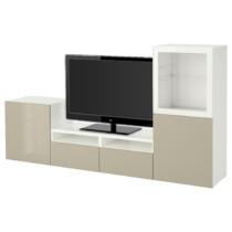 Шкаф для ТВ, комбинированный, стекляные дверцы БЕСТО белый артикуль № 491.902.73 в наличии. Онлайн сайт IKEA Республика Беларусь. Недорогая доставка и монтаж.