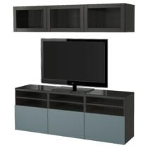 Шкаф для ТВ, комбинированный, стекляные дверцы БЕСТО артикуль № 491.965.38 в наличии. Онлайн магазин IKEA Минск. Быстрая доставка и монтаж.