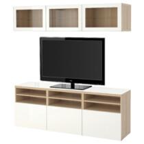 Шкаф для ТВ, комбинированный, стекляные дверцы БЕСТО артикуль № 591.965.71 в наличии. Online сайт ИКЕА РБ. Недорогая доставка и установка.