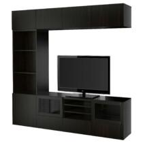 Шкаф для ТВ, комбинированный, стекляные дверцы БЕСТО артикуль № 591.966.65 в наличии. Онлайн сайт IKEA Минск. Быстрая доставка и установка.