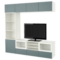 Шкаф для ТВ, комбинированный, стекляные дверцы БЕСТО белый артикуль № 691.966.84 в наличии. Интернет магазин IKEA Минск. Недорогая доставка и соборка.