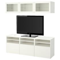 Шкаф для ТВ, комбинированный, стекляные дверцы БЕСТО артикуль № 791.965.51 в наличии. Интернет магазин ИКЕА РБ. Недорогая доставка и установка.