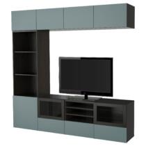 Шкаф для ТВ, комбинированный, стекляные дверцы БЕСТО артикуль № 791.966.74 в наличии. Онлайн сайт IKEA Минск. Недорогая доставка и соборка.