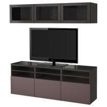 Шкаф для ТВ, комбинированный, стекляные дверцы БЕСТО артикуль № 891.965.41 в наличии. Интернет магазин ИКЕА РБ. Недорогая доставка и соборка.
