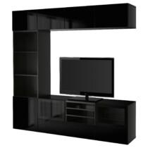 Шкаф для ТВ, комбинированный, стекляные дверцы БЕСТО артикуль № 991.966.87 в наличии. Online каталог IKEA Минск. Быстрая доставка и монтаж.