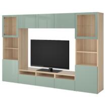 Шкаф для ТВ, комбинированный, стекляные дверцы БЕСТО артикуль № 992.024.81 в наличии. Онлайн сайт IKEA Минск. Быстрая доставка и монтаж.