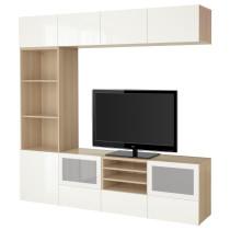 Шкаф для ТВ, комбинированный, стекляные дверцы БЕСТО артикуль № 291.949.17 в наличии. Онлайн каталог IKEA РБ. Быстрая доставка и соборка.