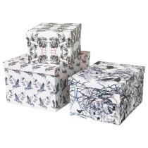 Набор коробок с крышкой, 3 штуки СТУНСИГ артикуль № 503.735.87 в наличии. Онлайн магазин ИКЕА РБ. Недорогая доставка и соборка.