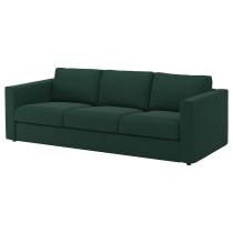 3-местный диван ВИМЛЕ темно-зеленый артикуль № 192.069.06 в наличии. Интернет сайт IKEA Беларусь. Быстрая доставка и установка.