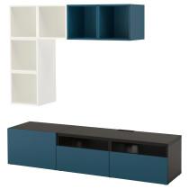 Комбинация для ТВ БЕСТО / ЭКЕТ темно-синий артикуль № 991.978.04 в наличии. Онлайн сайт IKEA Беларусь. Быстрая доставка и соборка.
