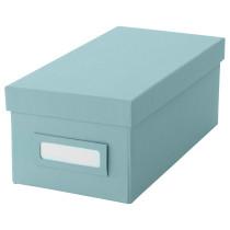 Коробка с крышкой ТЬЕНА голубой артикуль № 703.890.35 в наличии. Online магазин IKEA Минск. Быстрая доставка и установка.