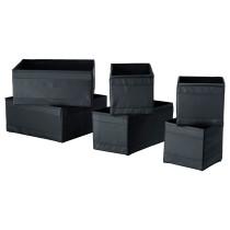 Набор коробок, 6 шт. СКУББ черный артикуль № 703.889.36 в наличии. Интернет магазин IKEA Минск. Недорогая доставка и соборка.