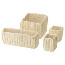 Набор корзин, 4 штуки НОРДРЭНА белый с оттенком артикуль № 103.809.19 в наличии. Интернет сайт IKEA Беларусь. Недорогая доставка и монтаж.