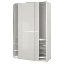 Гардероб ПАКС светло-серый артикуль № 392.211.33 в наличии. Онлайн сайт IKEA Республика Беларусь. Недорогая доставка и установка.