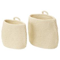 Набор корзин, 2 штуки НОРДРЭНА белый с оттенком артикуль № 303.809.18 в наличии. Интернет сайт IKEA Республика Беларусь. Недорогая доставка и установка.