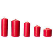Неароматическая формовая свеча, 5 штуки ФЕНОМЕН красный артикуль № 003.507.53 в наличии. Онлайн сайт ИКЕА РБ. Недорогая доставка и соборка.