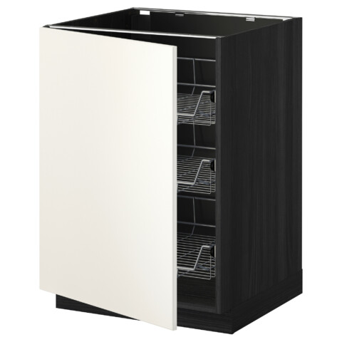 Напольный шкаф с проволочными ящиками МЕТОД черный артикуль № 192.233.93 в наличии. Интернет сайт IKEA Минск. Недорогая доставка и установка.