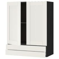 Навесной шкаф, 2 дверцы, 2 ящика МЕТОД / МАКСИМЕРА черный артикуль № 992.381.97 в наличии. Online магазин IKEA Беларусь. Недорогая доставка и установка.