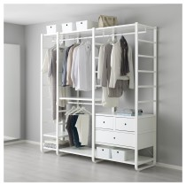 3 секции ЭЛВАРЛИ белый артикуль № 692.039.67 в наличии. Online магазин IKEA Беларусь. Быстрая доставка и установка.