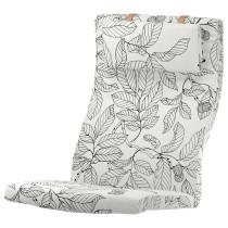 Подушка-сиденье на кресло ПОЭНГ черный/белый артикуль № 703.916.32 в наличии. Онлайн магазин IKEA Минск. Быстрая доставка и установка.
